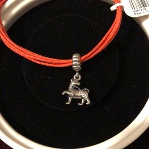 Pandora bracelet with tiger charm